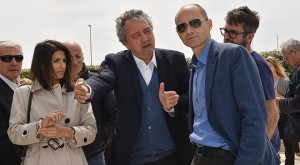 Virginia Raggi, Paolo Barelli e Daniele Frongia